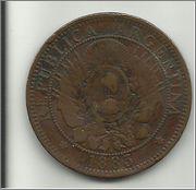 2 Centavos. Argentina. 1883  2_centavos_de_peso_r