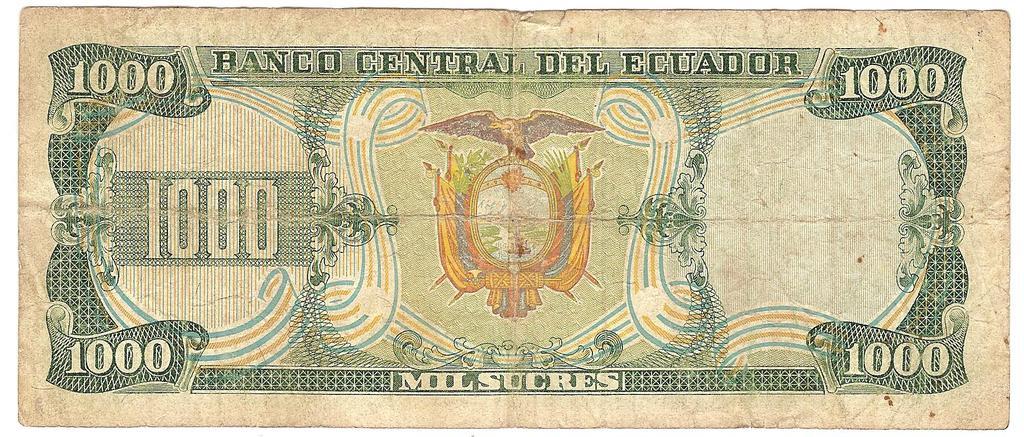 1000 Sucres Ecuador, 1986  Image