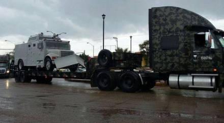 Guerrero - Vehiculos militares llegan a Guerrero para garantizar la eleccion - vehiculos sin matricula? Llega_tanquetas_y_otros_vehc3adculos_militares_d