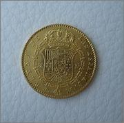 80 Reales 1844 Isabel II ,Barcelona- PS Image