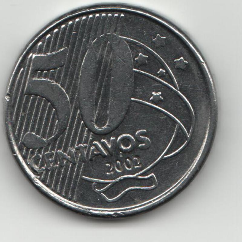 50 Centavos. Brasil. 2002 REVERSO_BRASIL