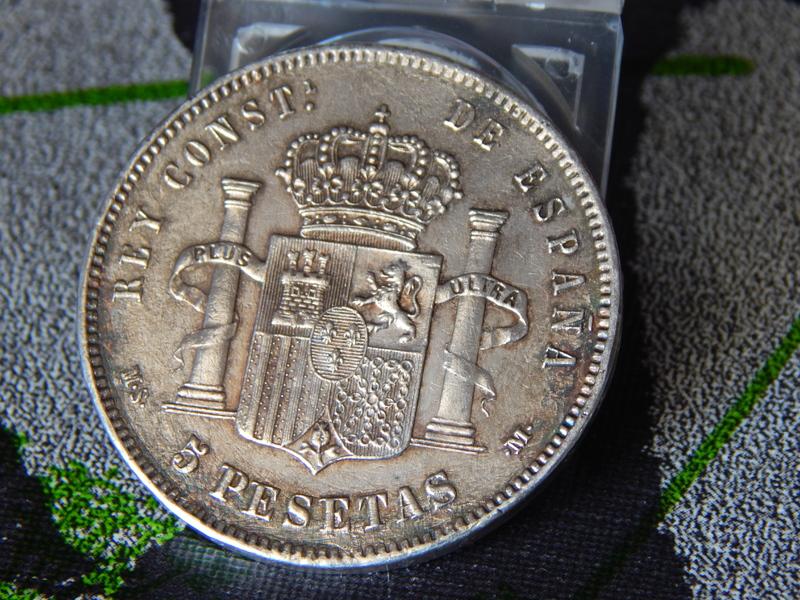 5 pesetas 1885 (18* 87*). Alfonso XII DSCN2390