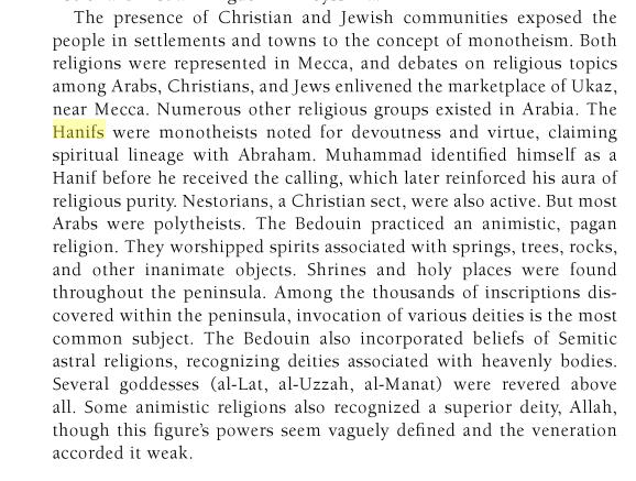 la Religion de Mahomet avant sa prophétie: UN HANIF Lat_uzza