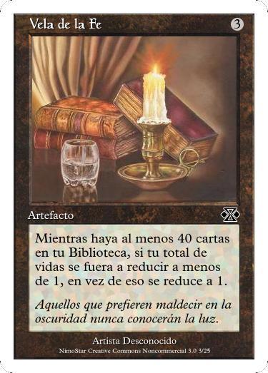 Cartas Magic Vela_de_la_Fe