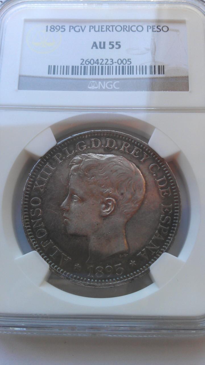 1 Peso 1995 PUERTO RICO - 1 Peso 1895. PGV. Alfonso XIII. Puerto Rico. IMAG0659