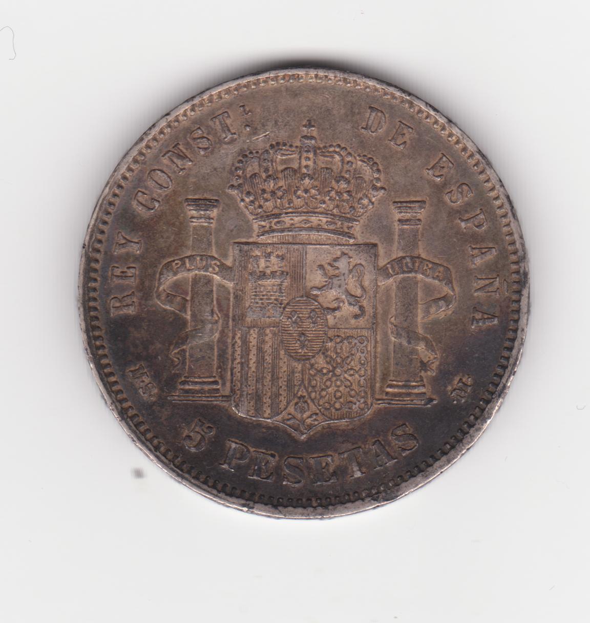 5 pesetas 1885 18*86*, Alfonso XII 5_pesetas_1885_001