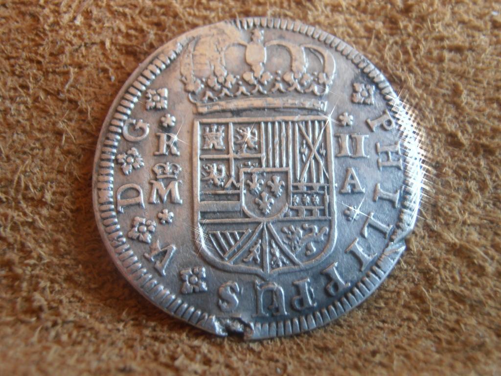 2 Reales 1724 Felipe V o Luis I  P9160023