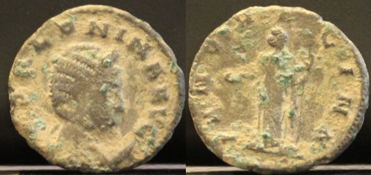 Antoniniano de Salonina. IVNO REGINA. Ceca Roma. Salonina