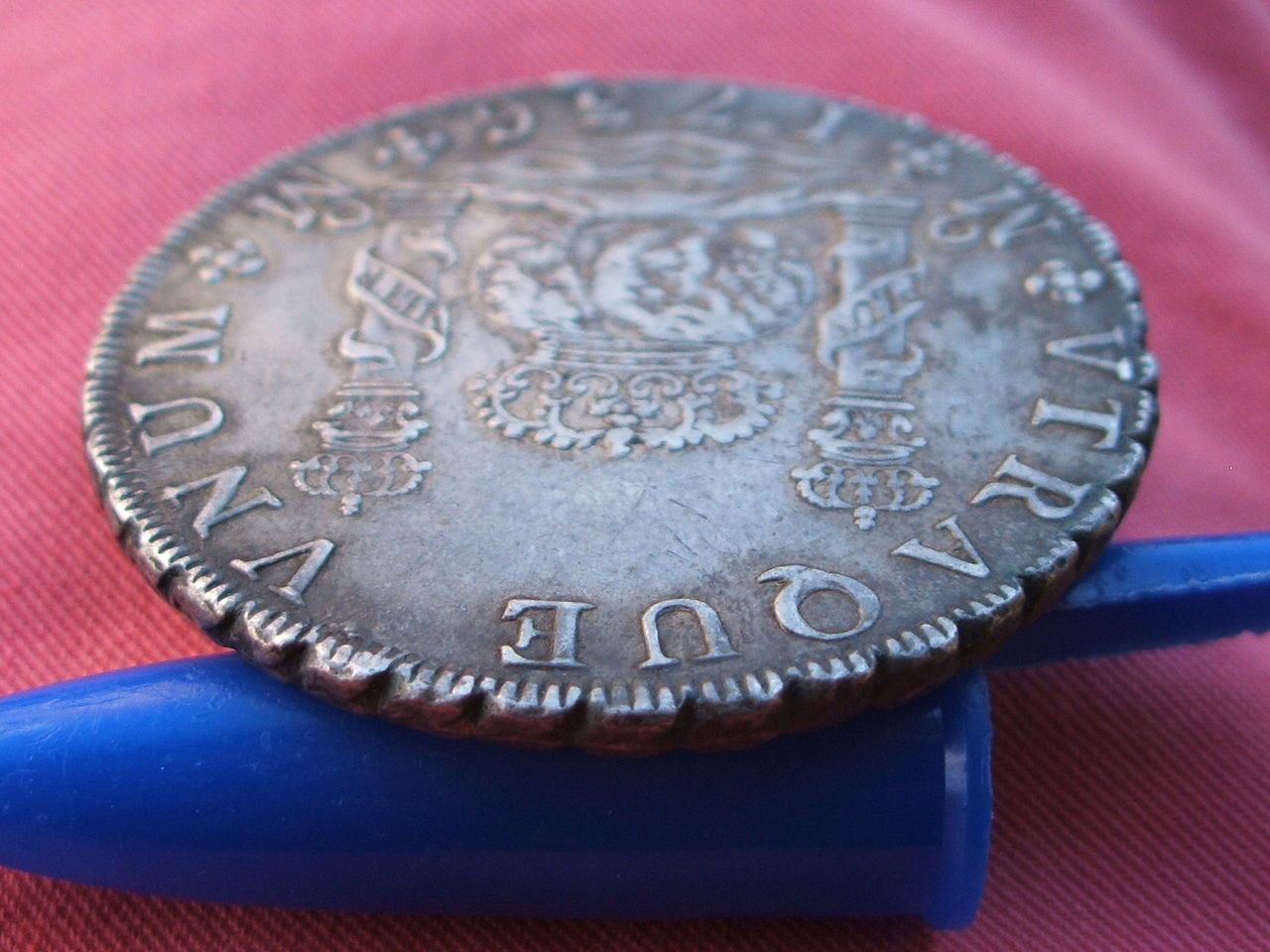 """8 reales """"columnarios"""" 1735. Felipe V. Méjico. Si_4"""