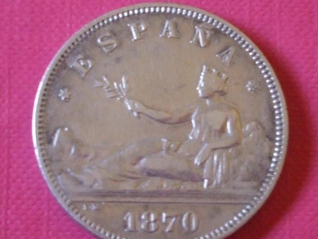 2 pesetas 1870 (*18*73). Gobierno Provisional DSCF3453