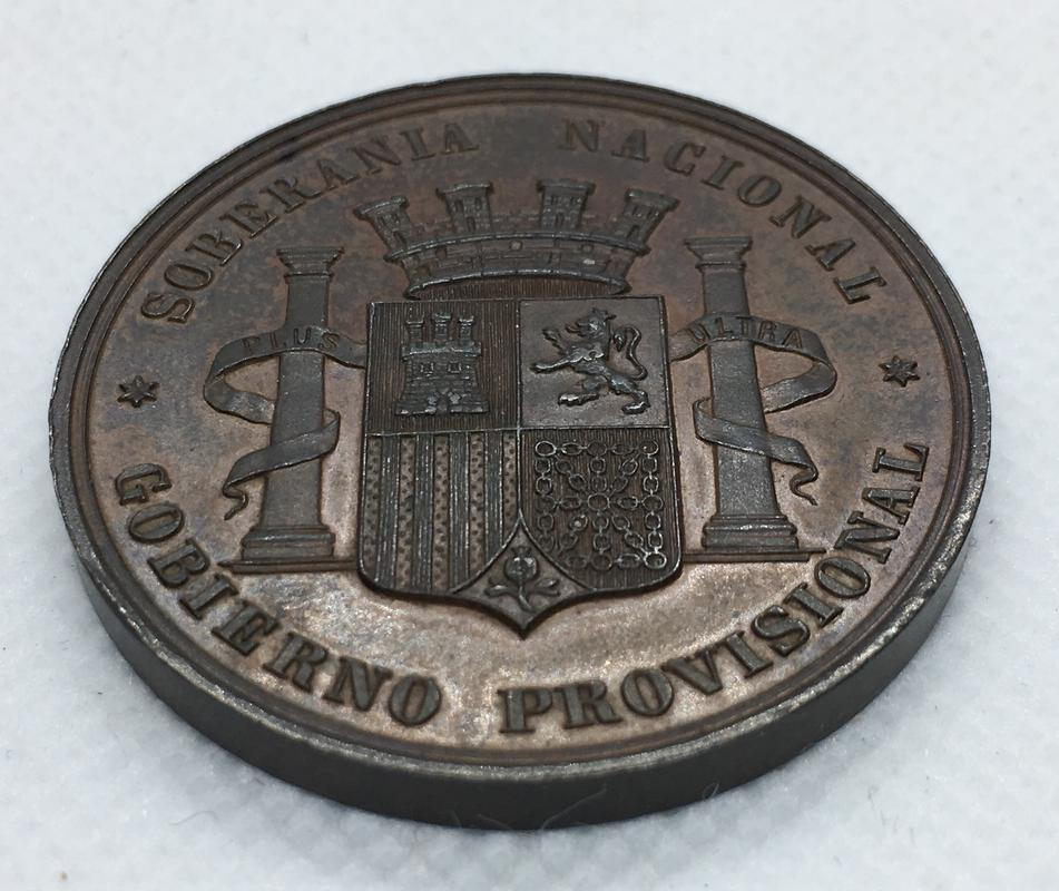 Medalla Soberanía Nacional. Gobierno Provisional 1868.  D1_DDC205-6451-4_A1_E-8_B0_B-9239_E35964_C6