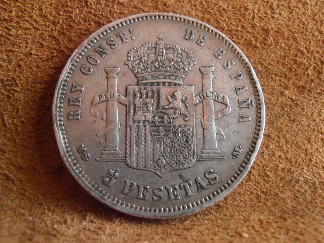 5 Pesetas 1885 (*18-86). Alfonso XII P4010010