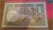 Prodajem: Novčanica 10,000 Dinara Image