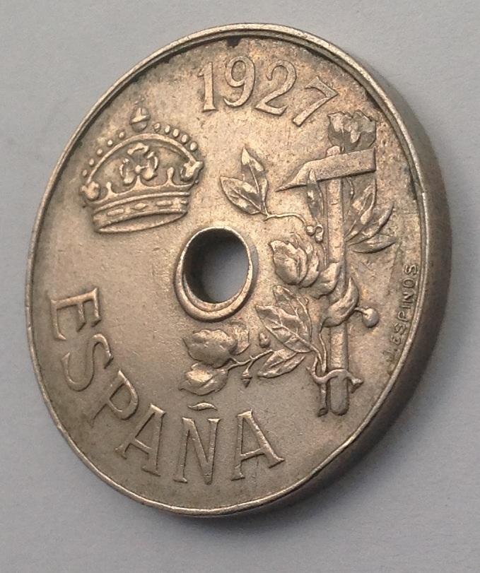 25 Céntimos de 1927. Alfonso XIII. PC S. Dedicada a Estrella76. Image