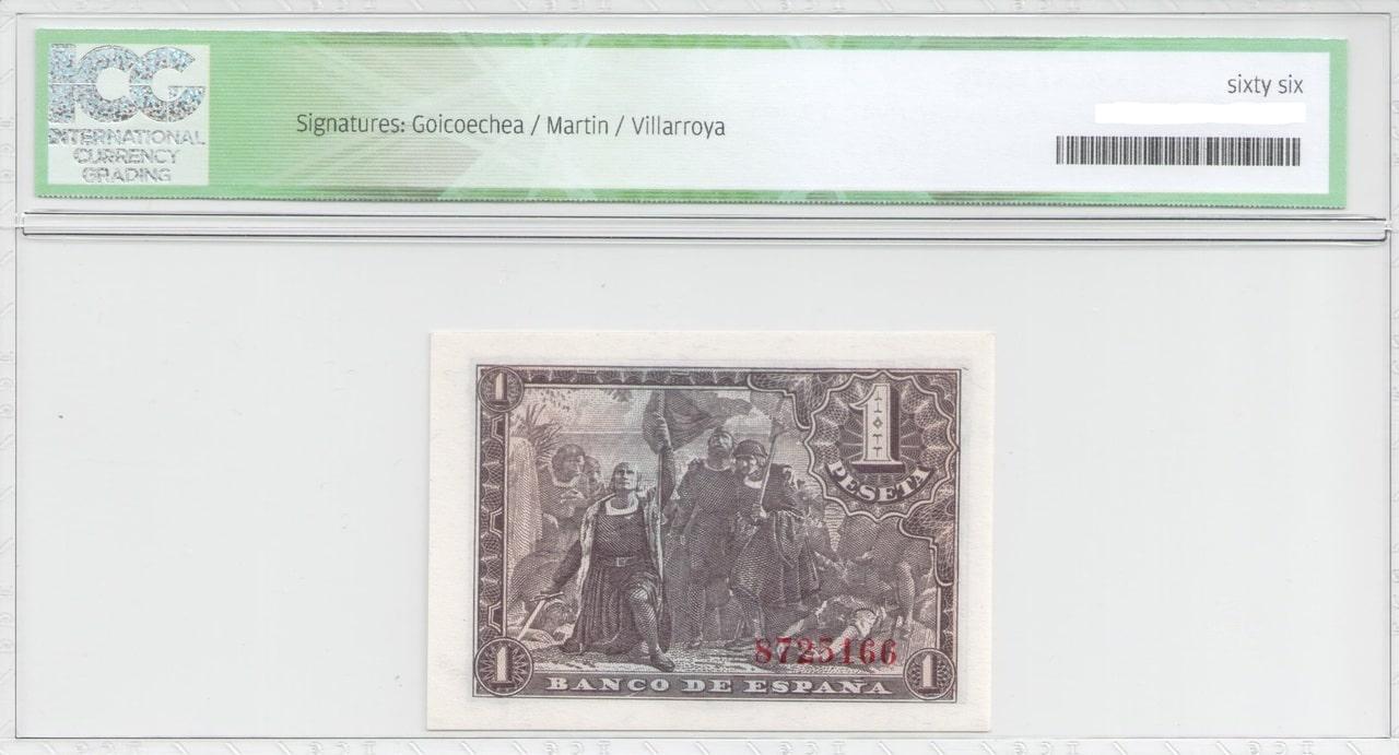 Colección de billetes españoles, sin serie o serie A de Sefcor 43_reverso
