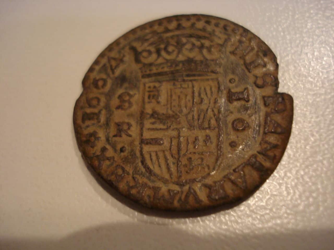 16 maravedís 1664. Felipe IV, ceca Sevilla, variante Philipp. Phillip_010