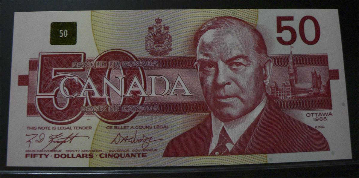 50 Dólares Canadá, 1988  Cnc98d