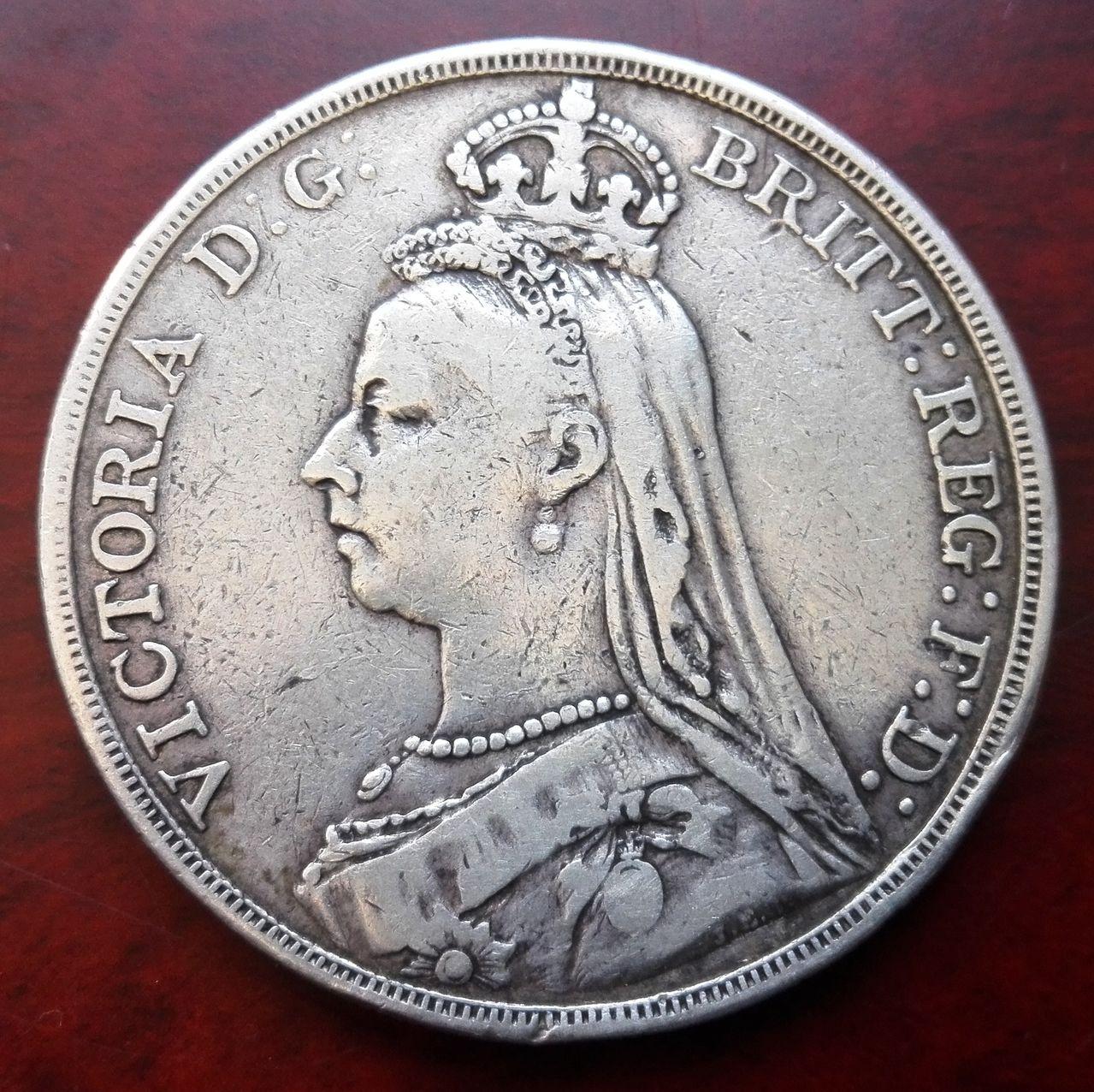 1 corona 1889, Reino Unido  1_corona_1889