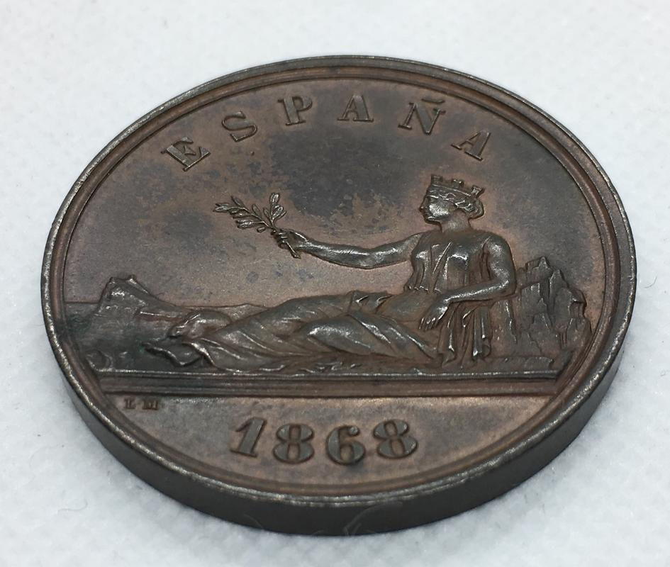 Medalla Soberanía Nacional. Gobierno Provisional 1868.  C115401_F-_FD4_D-4_F11-94_BD-784132_DA0338