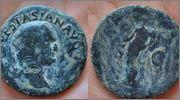 As de Vespasiano. FELICITAS PVBLICA - S C. Ceca Roma. Vespasian