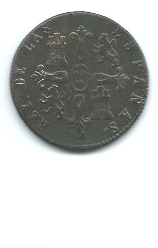 8 maravedis const de fernado 7º año 1823 Image