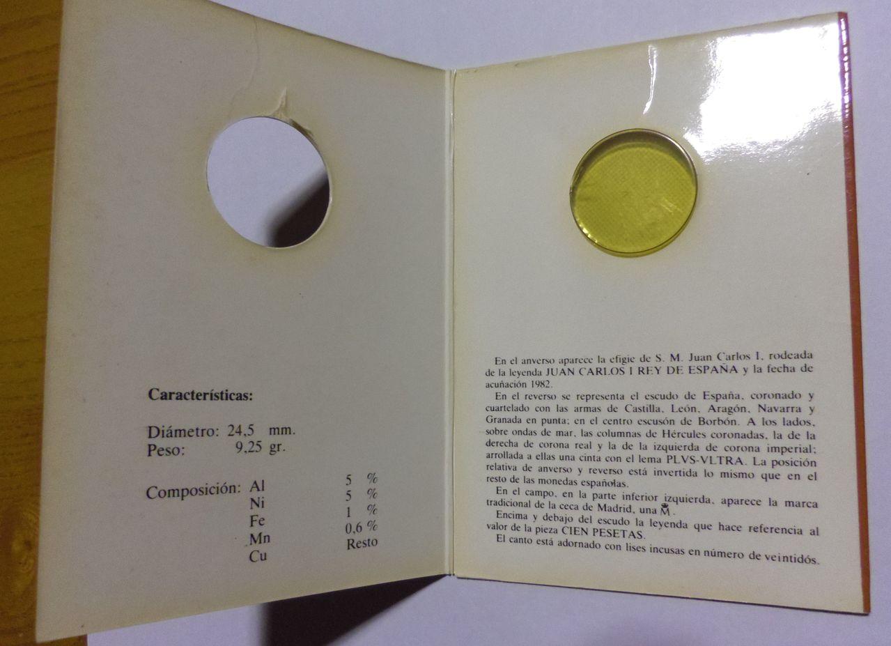100 Pesetas. Juan Carlos I. Madrid. 1982. Cartera de Presentación. IMGP5194