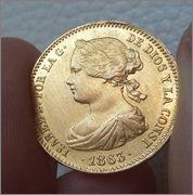 100 REALES 1863 ISABEL II MADRID , DEDICADA A PERROPAXON 2015_03_29_12_28_31