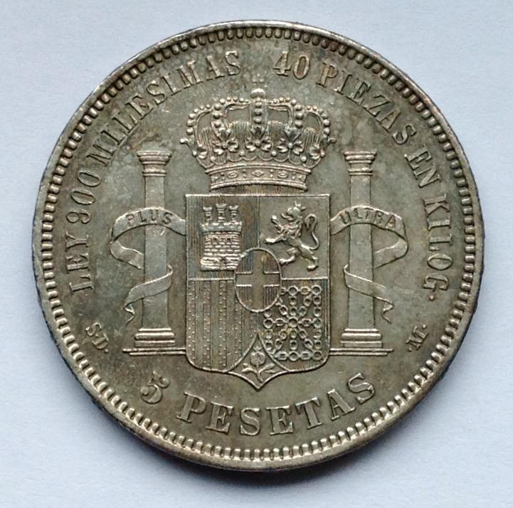5 pesetas 1871 (*18-71) Amadeo I Image