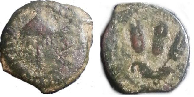 Prutah de Herodes Agripa I. Jerusalén. 41 - 42 d. C. Herodes_Agripa