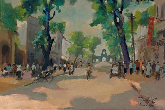 Hà Nội thập niên 1950 qua tranh bột màu Tranh-5-_O-_Quan-_Chuong-1536804640_680x0