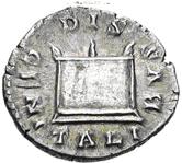 Glosario de monedas romanas. DIS GENITALIBUS. Image