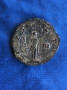 Antoniniano Galieno. FIDES MILITVM. Fides estante a izq. Ceca Roma. Image