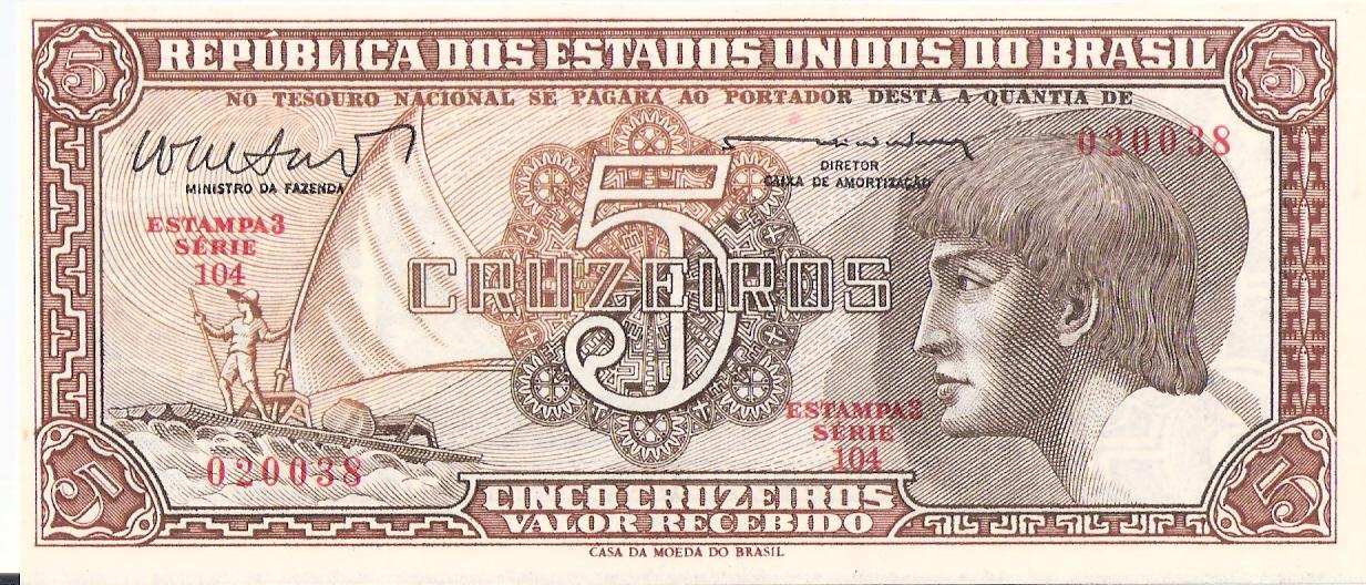 5 Cruzeiros Brasil, 1962 Escanear0010