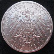 Autenticidad - 5 Mark. Alemania, Estado de Baden. 1898. Stuttgart IMG_1412