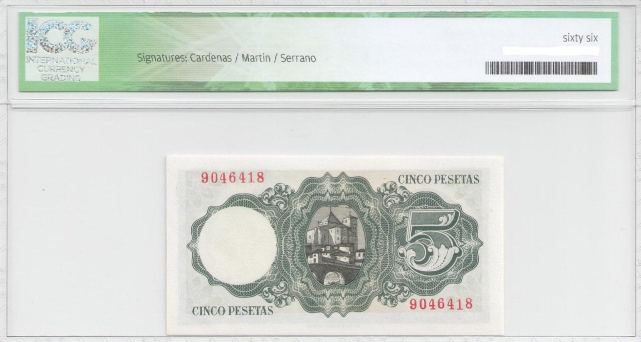Colección de billetes españoles, sin serie o serie A de Sefcor Balmes_reverso
