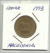 Monedas con animales domésticos Un_dinar_de_macedonia
