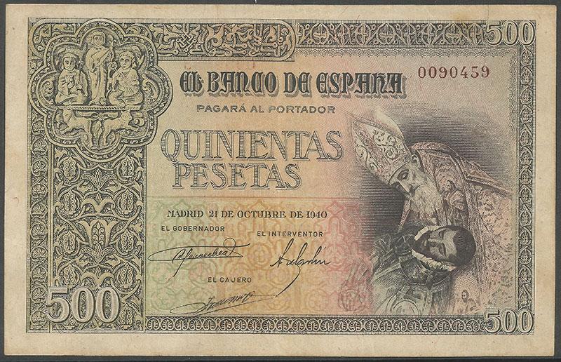 500 Pesetas 1940 (Entierro Conde De Orgaz) 500_Pts_Octubre_1940