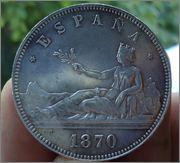 5 Pesetas 1870 *18-70 Gob.Provisional Image