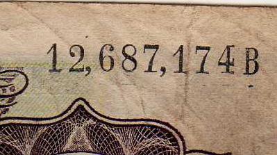 Antiguos Pesos de la Republica Argentina Leyes 12962 (Moneda Nacional) Numeracion_2