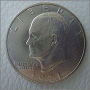 """1 Dolar 1971 s """"Eisehower""""USA Image"""