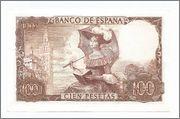 100 Pesetas 1965 Serie A (Sexteto - Bequer) Billete_52