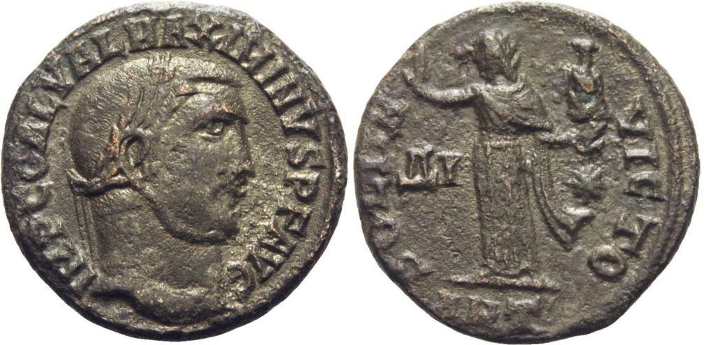Nummus de Maximino II Daza. Maximino_ii_ant_of_14
