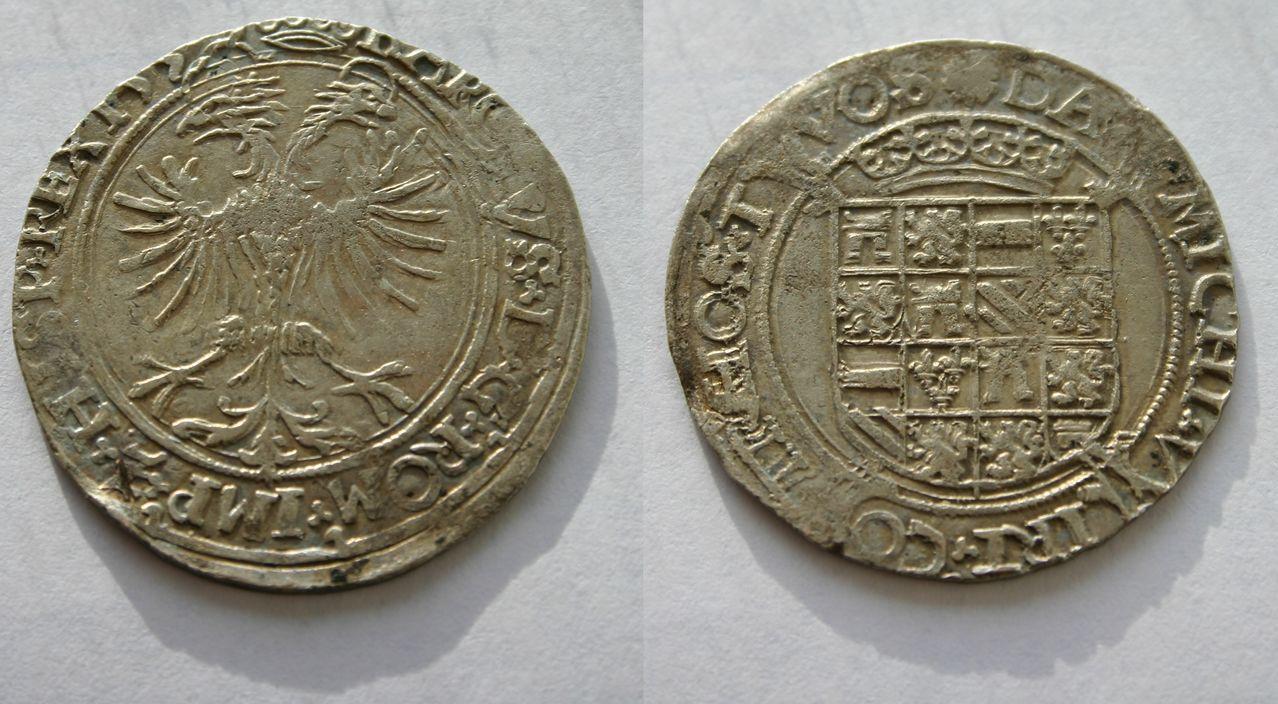 Vlieger de 4 stuivers a nombre de Carlos V, 153*, Dordrecht. Vlieger_van_4_stuiver_Karel_V