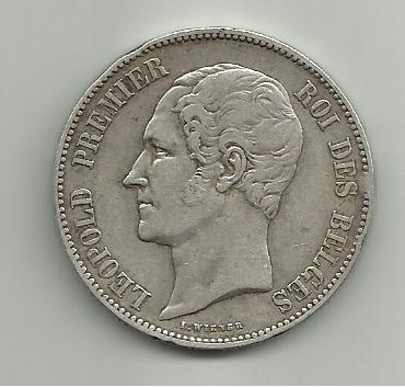 5 francos belgas 1851 Leopoldo I 5_francos_Belgica_Leopoldo_I_1951_anver