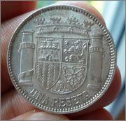 1 Peseta 1933*3-4 2a República Image