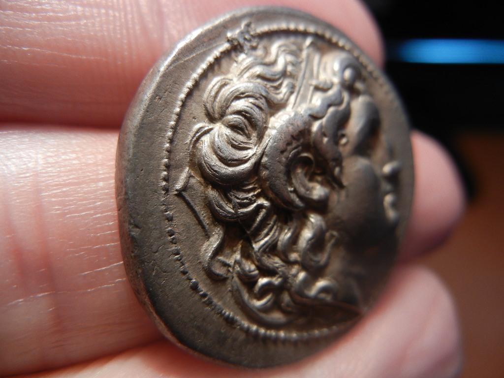 Tetradracma eubeo-ático de Lisímaco. Tracia (305-281 a.C). Increíble diseño. DSCN0074