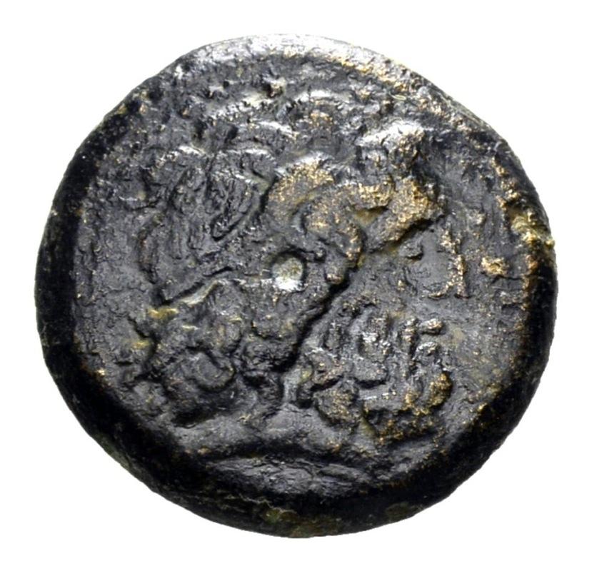 AE19 Óbolo de Ptolomeo II Filadelfo. ΠTOΛEMAIOY ΒΑΣΙΛΕΩΣ . Tiro Anverso