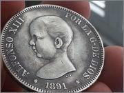 5 pesetas 1891*1891* Alfonso XIII -PGM 20131112_135432