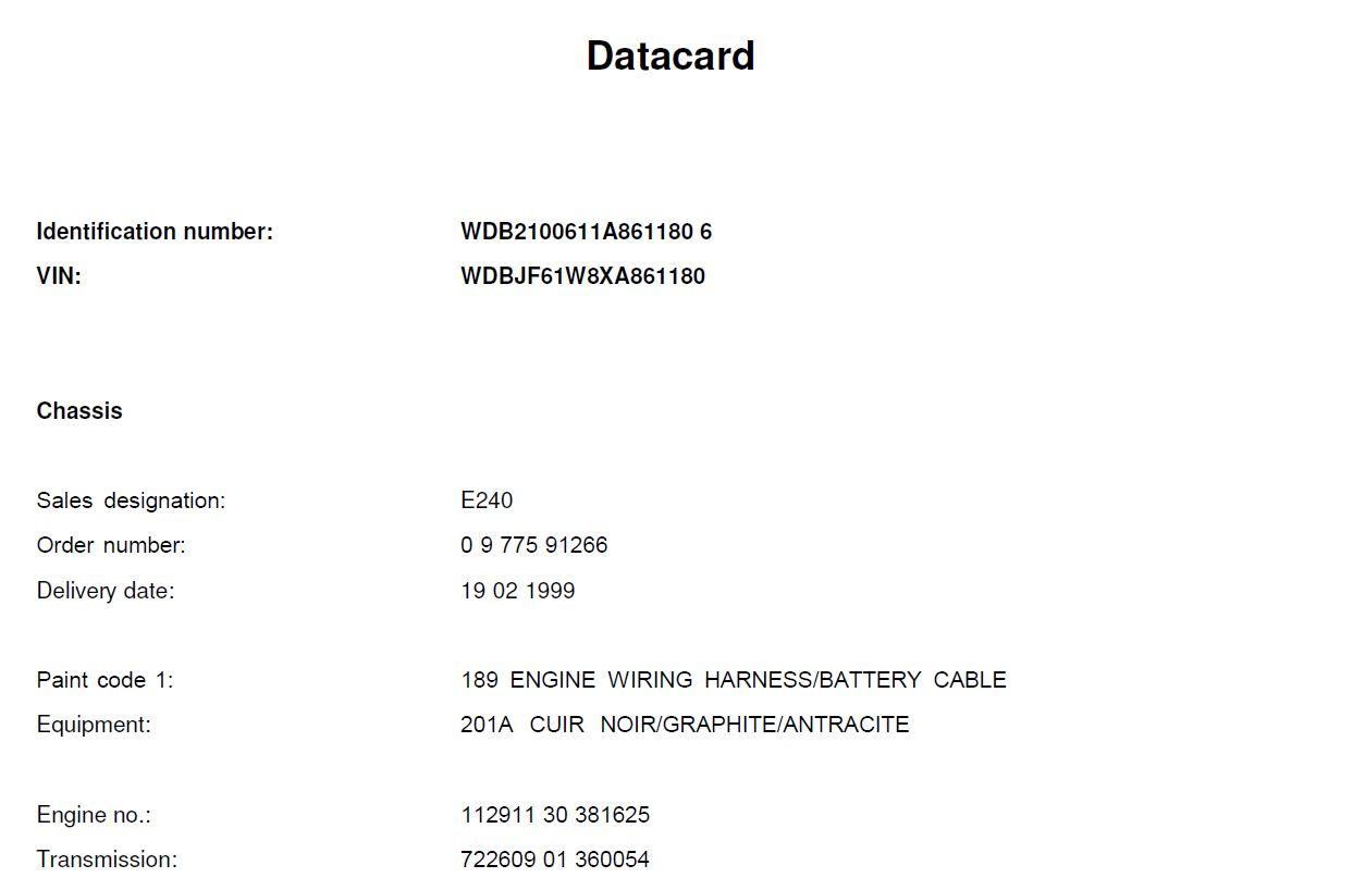 W210 - E240 Elegance 1999 - R$ 42.000,00 (VENDIDA) Datacard1