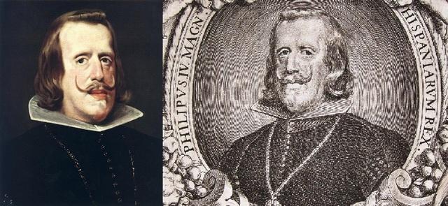 Grabado retrato de Felipe IV. 1657. Autor Pedro de Villafranca. Dedicado a Jotasoler Felipe_iv_l2_1